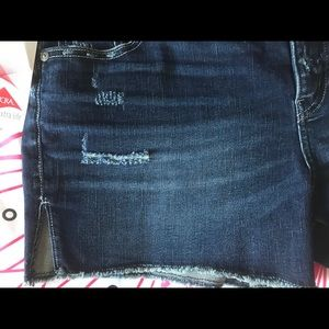 Silver Jeans Shorts - Silver distressed jean shorts
